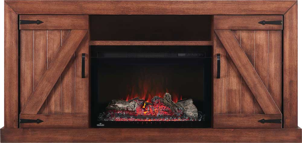 The Lambert Electric Fireplace Entertainment Package