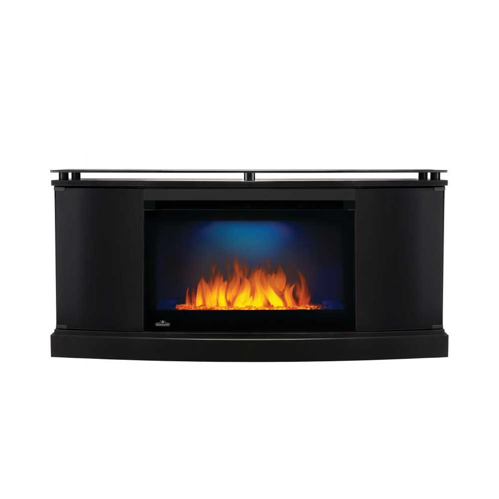 The Anya Electric Fireplace Entertainment Package