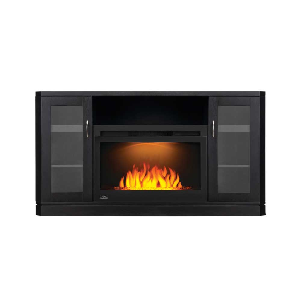 The Crawford Electric Fireplace Entertainment Package
