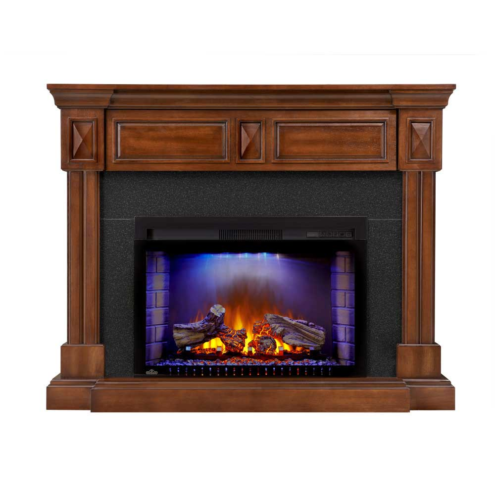 The Braxton Electric Fireplace Entertainment Package
