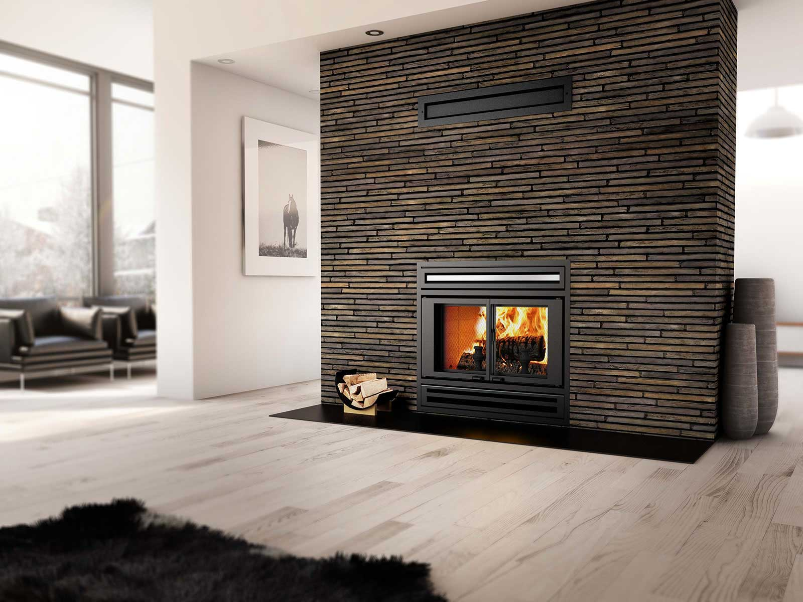 Valcourt Wood Factory-Built, Ambiance & Mass Fireplaces